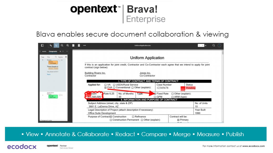 edit, collaborate with CAD document OpenText Brava