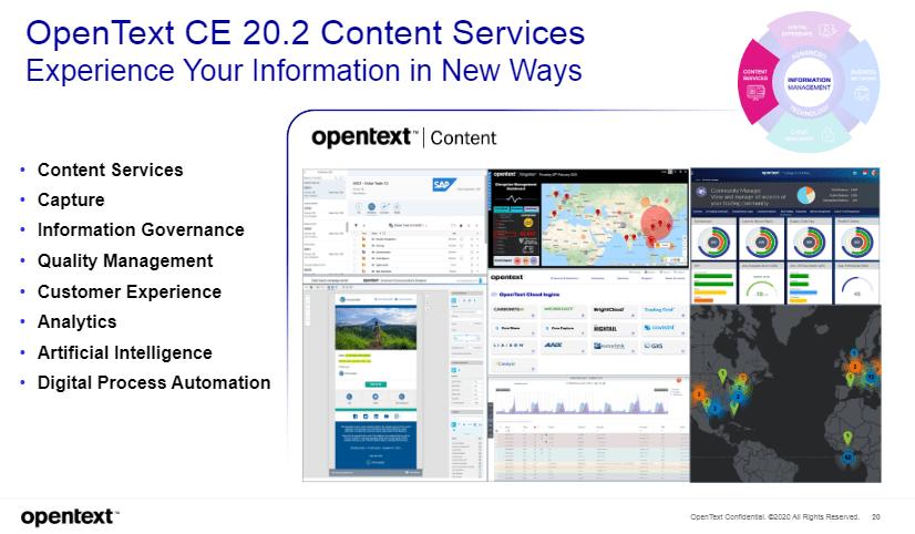 OpenText CE 20.2 Consent Services