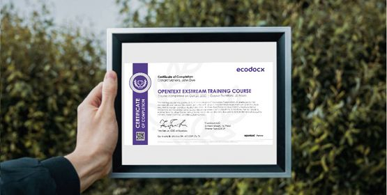 opentext training certfiicate of completion ecodocx 555x280