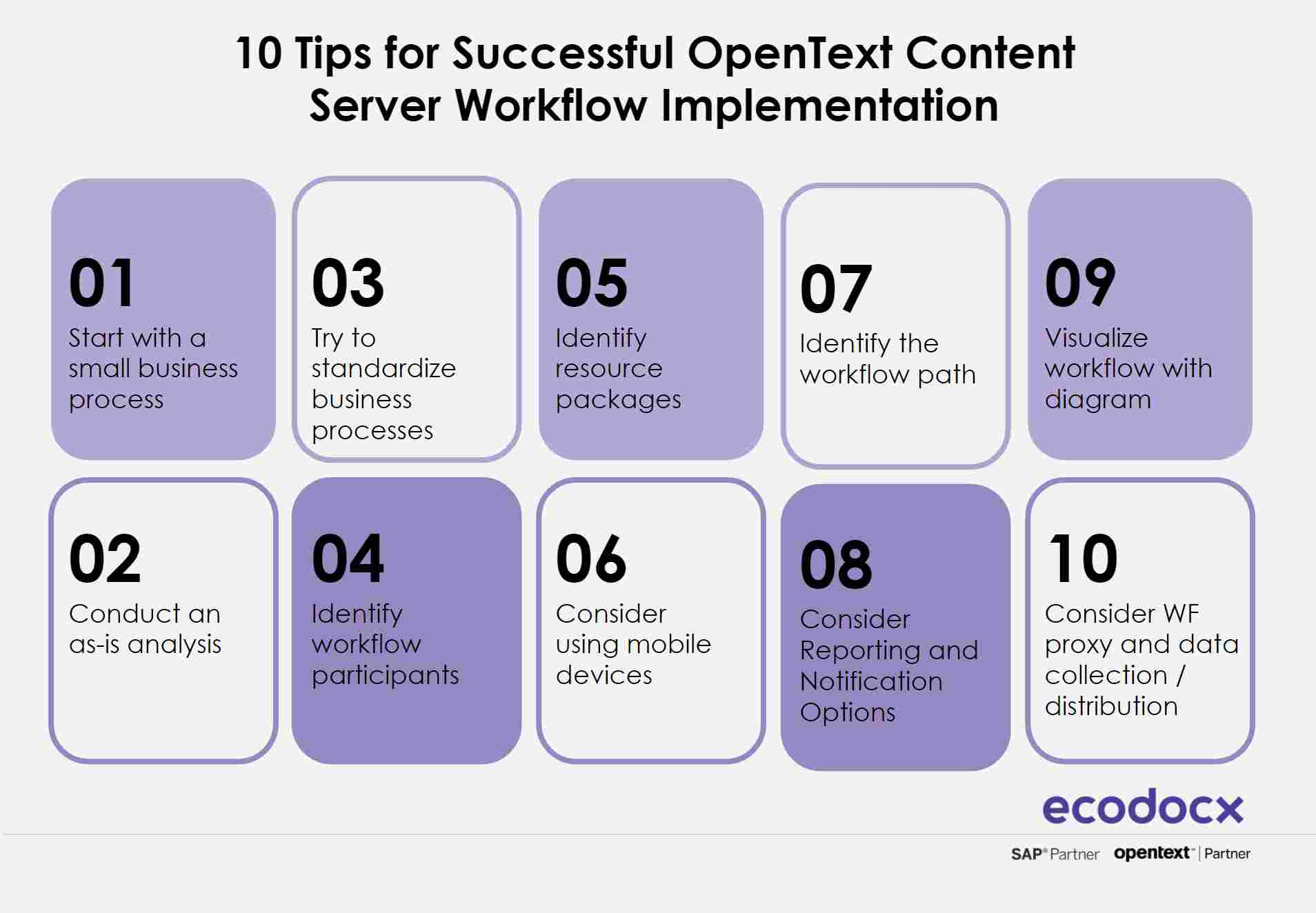 10 tips for successful opentext content server workflow implementation