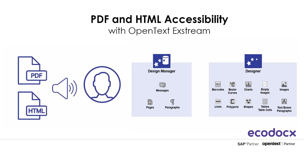 pdf and html accessibility with opentext exstream